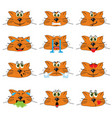 cat emojis set of emoticons icons isolated vector image