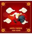 Chinese New Year of Rooster greeting card design vector image