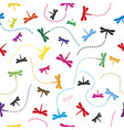 dragonfly pattern seamless background vector image