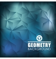 Geometry blue background design vector image