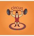 Hand drawn circus lable vector image