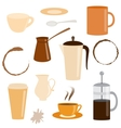 Set of coffee related icons vector image