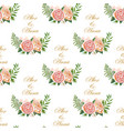 vintage wedding pattern vector image