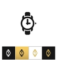 Wrist watch sign or wristwatch icon vector image