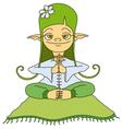 yoga elf vector image