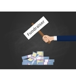 fundraiser with businessman hold a vector image