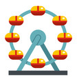huge ferris wheel canada icon isolated vector image