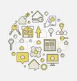 real estate circular vector image