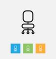 of teach symbol on chair vector image