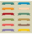 Set of multicolored vintage banners vector image
