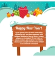Christmas card with a gift box vector image