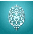 Greeting card withornamental Easter egg vector image vector image