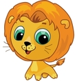 cute lion vector cartoon illustration vector image vector image
