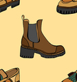pattern with shoes vector image