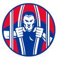 escaping prisoner symbol vector image vector image