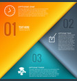 business infographic design template vector image