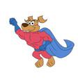 dog super hero flying vector image