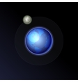 Earth and Moon on the Night Sky Background vector image