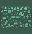 halloween drawings set of design elements doodles vector image