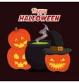 Happy halloween vector image