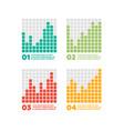 infographics elements progress bar vector image