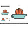 jelly pudding line icon vector image
