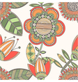 Seamless floral pattern decorative background vector image