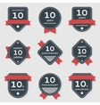 set of anniversary banners vector image