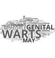 what are the symptoms and treatments for genital vector image