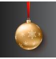 Christmas ball on dark background vector image vector image
