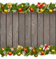 Seamless Christmas Old Wooden Board vector image