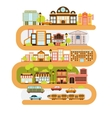 City Infrastructure And All The Urban Buildings vector image