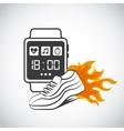 Smart watch for sport vector image