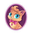 cute kitty portrait vector image
