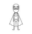 monochrome silhouette faceless with standing boy vector image