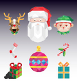 Christmas pack vector image