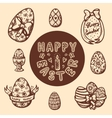 Easter objects vintage collection vector image