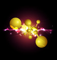abstract science chemical background vector image