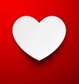 Paper white heart vector image