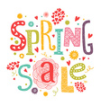 Llettering Spring sale with decorative floral vector image