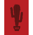 red cactus vector image vector image
