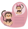 Dreaming Monkey vector image