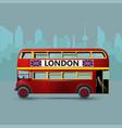 a red london doubledecker bus vector image