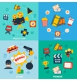 Action movie composition vector image