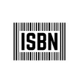 black isbn sign with barcode vector image