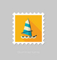 Board windsurfing stamp summer vacation vector image