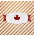 Canada Flag symbol realistic Tag vector image