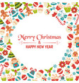 christmas greeting card christmas greeting card vector image