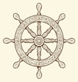 Detailed grey outlines nautical rudder vector image