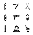 Hair cut icons set simple style vector image